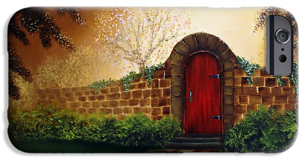 Recently Sold -  - Bob Ross Paintings iPhone Cases - The Red Door iPhone Case by David Kacey