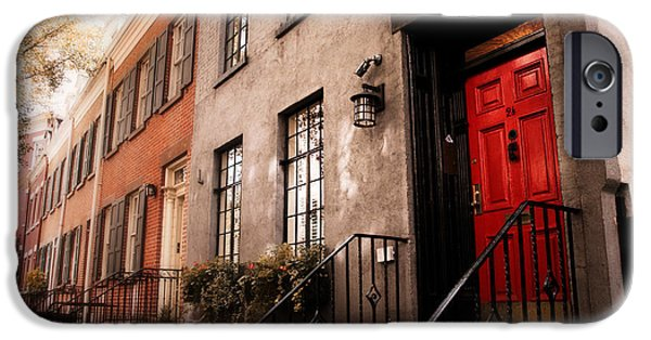 Home iPhone Cases - The Red Door iPhone Case by Jessica Jenney
