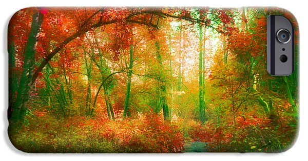 Overhang iPhone Cases - The Red Forest iPhone Case by Tara Turner