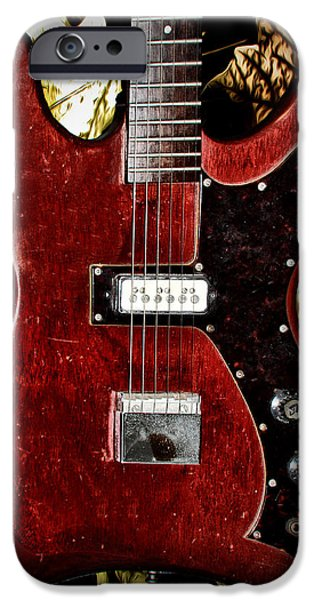 The Red Guitar Blues iPhone Case by Bill Cannon