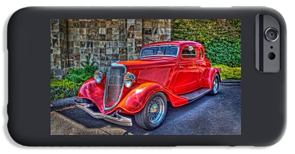 Automotive iPhone Cases - The Red Hot Rod iPhone Case by Thom Zehrfeld