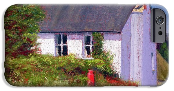 House iPhone Cases - The Red Milk Churn, 2003 Pastel On Paper iPhone Case by Anthony Rule