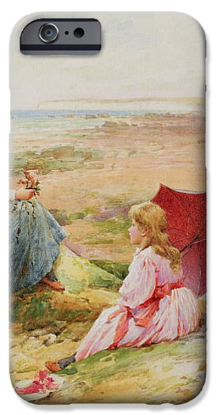 The Red Parasol iPhone Case by Alfred Glendening Jr