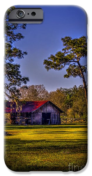 Old Barns iPhone Cases - The Red Roof Barn iPhone Case by Marvin Spates