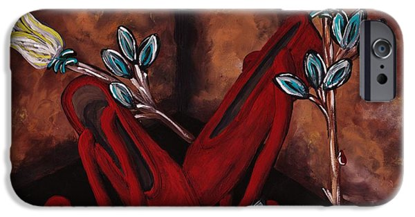 Dance Floor Paintings iPhone Cases - The Red Shoes iPhone Case by Barbara St Jean