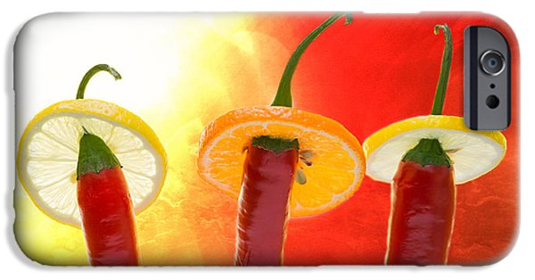 Red Hot Chili Peppers iPhone Cases - The Red - The Hot - The Chili iPhone Case by Alexander Senin
