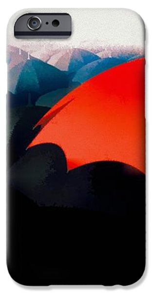 The Red Umbrella iPhone Case by Bob Orsillo