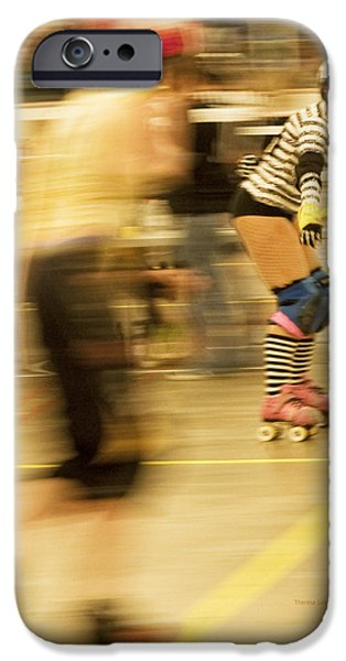 Roller Skates iPhone Cases - The Ref iPhone Case by Theresa Tahara