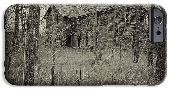 Recently Sold -  - Haunted House iPhone Cases - The House in the Woods iPhone Case by Mary Lee Dereske