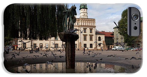 Pigeon iPhone Cases - The Renaissance Town Hall And Central iPhone Case by Panoramic Images