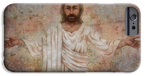 The Resurrection Of Christ iPhone Cases - The Resurrection and the Life iPhone Case by April Moen