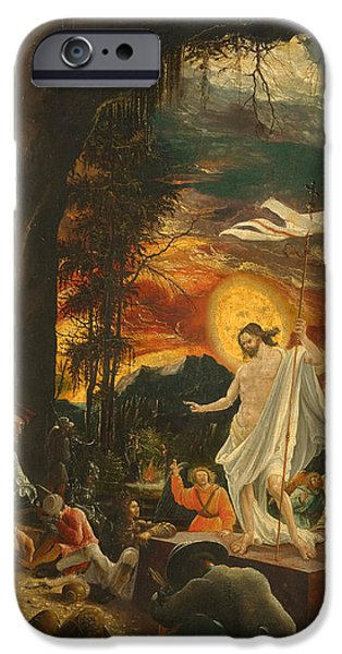 The Resurrection Of Christ iPhone Cases - The Resurrection of Christ iPhone Case by Albrecht Altdorfer