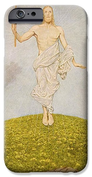 The Resurrection Of Christ iPhone Cases - The Resurrection of Christ iPhone Case by Hans Thoma