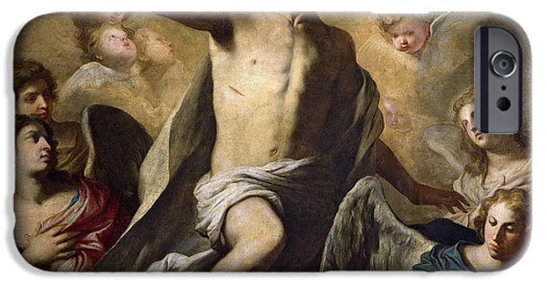 The Resurrection Of Christ iPhone Cases - The Resurrection of Christ iPhone Case by Pietro Novelli