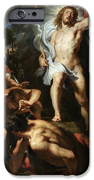 The Resurrection Of Christ iPhone Cases - The Resurrection of Christ.Central Panel iPhone Case by Peter Paul Rubens