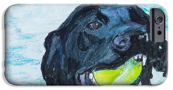 Mixed Labrador Retriever iPhone Cases - The Retrieve iPhone Case by Roger Wedegis