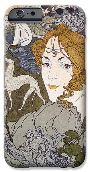 Art Nouveau Flower iPhone Cases - The Return iPhone Case by Georges de Feure