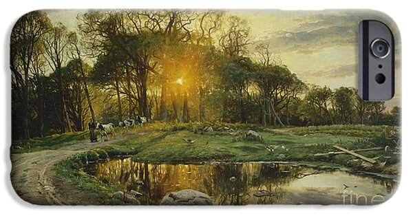 Setting Sun iPhone Cases - The Return Home iPhone Case by Peder Monsted