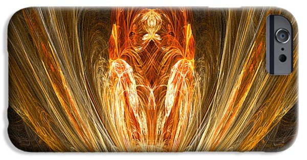 Christian Artwork Digital Art iPhone Cases - The Return of the King iPhone Case by R Thomas Brass