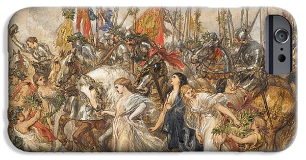 Allegory iPhone Cases - The Return of the Victors iPhone Case by Sir John Gilbert