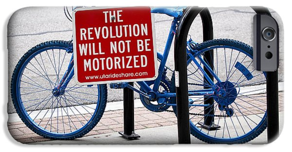 Cycling iPhone Cases - The Revolution Will Not Be Motorized iPhone Case by Rona Black