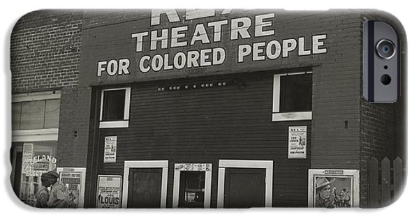 The White House Photographs Digital iPhone Cases - The Rex theatre for Negro People iPhone Case by Dorothea Lange