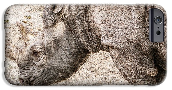 Rhinocerus iPhone Cases - The Rhino iPhone Case by Digital Moments