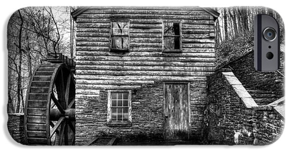 Grist Mill iPhone Cases - The Rice Gristmill Hdr BW iPhone Case by Douglas Stucky