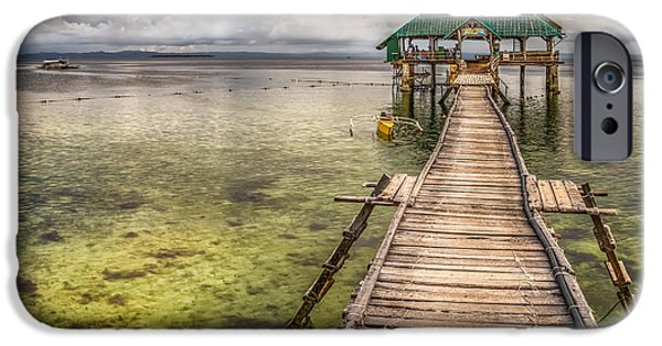 Pier Digital Art iPhone Cases - The Rickety Pier iPhone Case by Adrian Evans