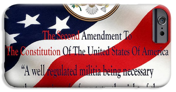 Constitution iPhone Cases - The Right To Bear Arms iPhone Case by Floyd Snyder