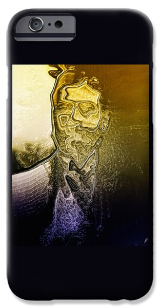 Abstract Digital Art iPhone Cases - The Picture of Dorian Gray By Quim Abella iPhone Case by Joaquin Abella