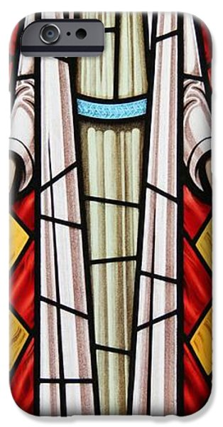 Sacred Glass Art iPhone Cases - The Risen Christ iPhone Case by Gilroy Stained Glass