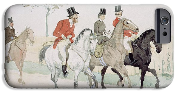 The Horse iPhone Cases - The Rivals iPhone Case by Randolph Caldecott
