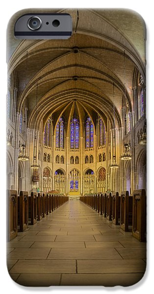 Manhattan iPhone Cases - The Riverside Church iPhone Case by Susan Candelario