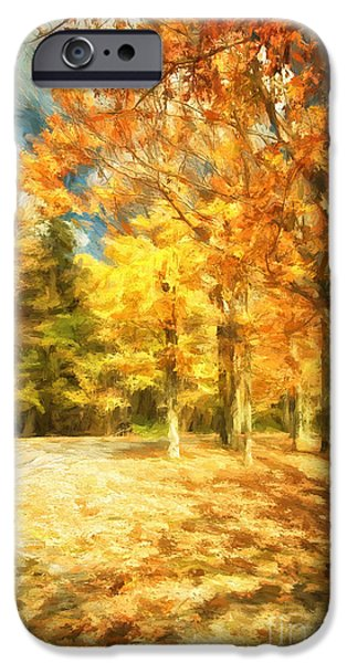 Autumn Road iPhone Cases - The Road Home iPhone Case by Lois Bryan