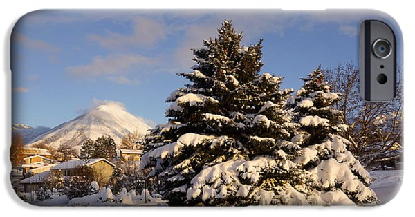 Winter iPhone Cases - The road in the snow iPhone Case by Gloria Pasko