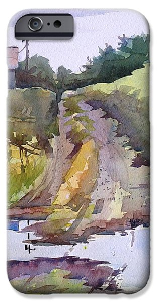 Rainy Day iPhone Cases - The Road Less Traveled iPhone Case by Spencer Meagher