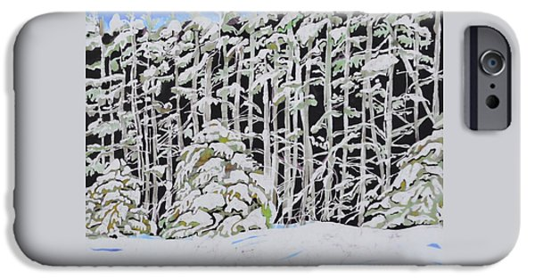 Snow Tapestries - Textiles iPhone Cases - The Road to Petoskey iPhone Case by Kate Ford
