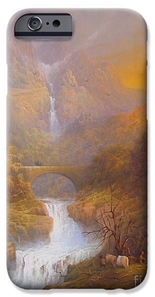 Bag iPhone Cases - The road to Rivendell The Lord of the Rings Tolkien inspired art  iPhone Case by Joe  Gilronan