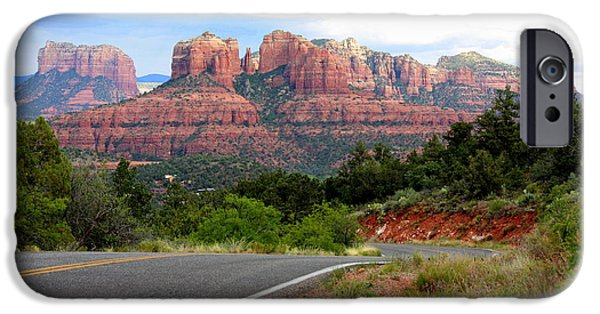 Sedona iPhone Cases - The Road to Sedona iPhone Case by Carol Groenen