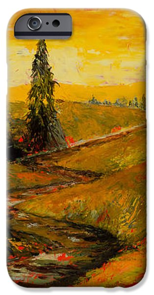 The Road to Tuscany iPhone Case by Larry Martin