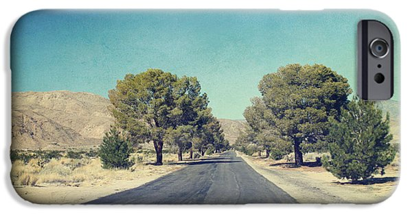Desert iPhone Cases - The Roads We Travel iPhone Case by Laurie Search