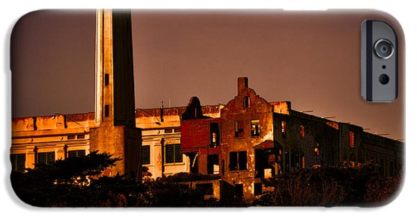 Alcatraz iPhone Cases - The Rock at Sunset iPhone Case by Joe Bledsoe