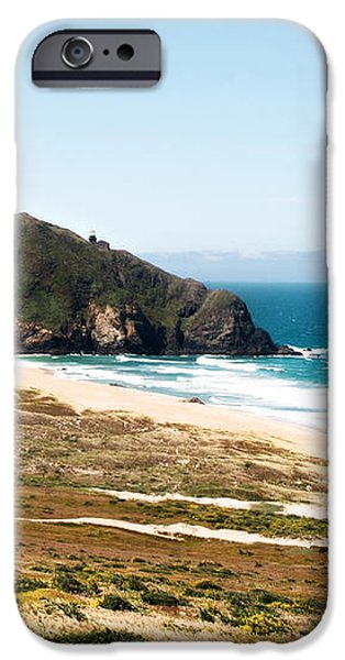 The Rock of Piedras Blancas Lighthouse in San Simeon CA iPhone Case by Artist and Photographer Laura Wrede
