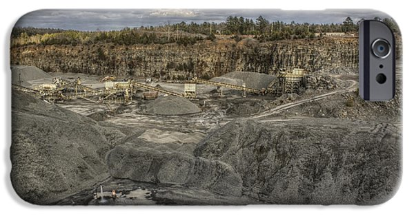 Machinery iPhone Cases - The Rock Quarry iPhone Case by Jason Politte