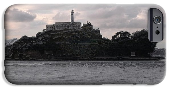 Alcatraz iPhone Cases - The Rock iPhone Case by Richard Andrews