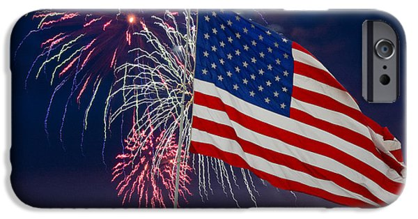 Fourth Of July Mixed Media iPhone Cases - The Rockets Red Glare iPhone Case by Richard Malin