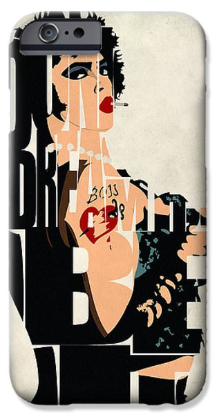 Wall Art Digital Art iPhone Cases - The Rocky Horror Picture Show - Dr. Frank-N-Furter iPhone Case by Ayse Deniz