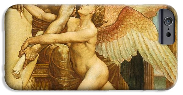 Fate Paintings iPhone Cases - The Roll of Fate iPhone Case by Walter Crane
