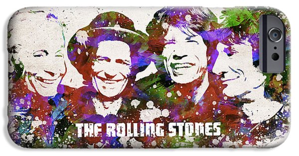 Keith Richards iPhone Cases - The Rolling Stones iPhone Case by Aged Pixel